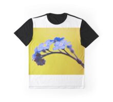 Forget me not flower on yellow background Graphic T-Shirt