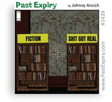 Cartoon :  Non-Fiction Books Canvas Print
