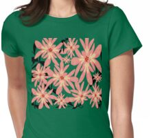 Peach Flowers Womens Fitted T-Shirt