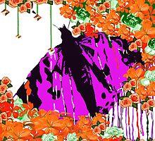 Autumn Butterfly In My Garden by Saundra Myles