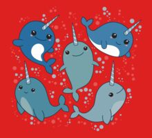 Narwhal Pattern One Piece - Short Sleeve