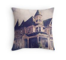 Victorian House Oil Painting Throw Pillow