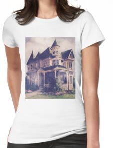 Victorian House Oil Painting Womens Fitted T-Shirt