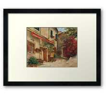 Panini Cafe' by Chris Brandley Framed Print