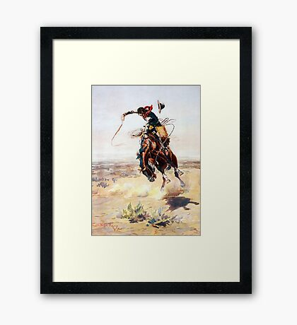Charles Marion Russell A Bad Hoss Framed Print