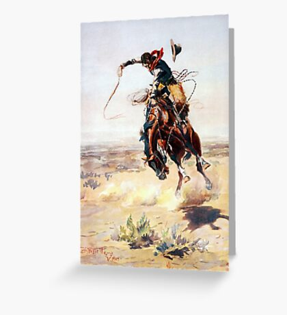 Charles Marion Russell A Bad Hoss Greeting Card