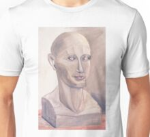 Phrenology Head Bust Sculpture Chalk Pastel Picture Unisex T-Shirt