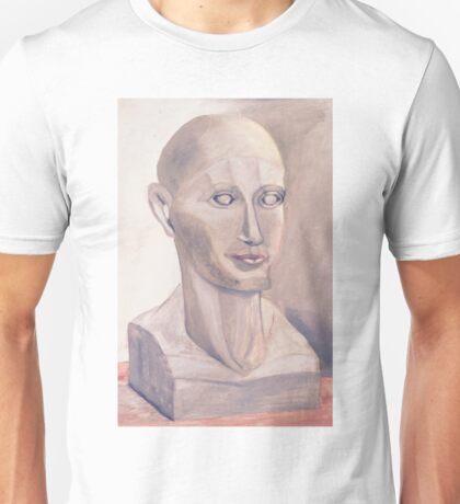 Phrenology Head Bust Sculpture Chalk Pastel Picture Unisex T-Shirt