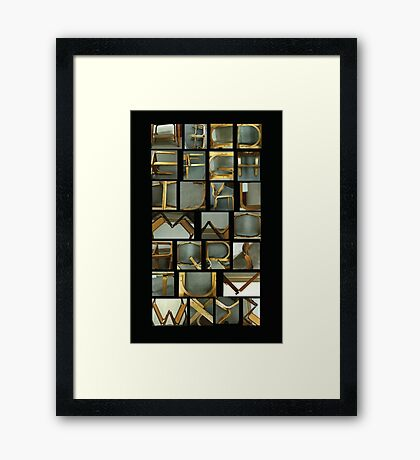 Alphabet Chairs Framed Print