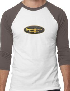 Golden Oval Trumpet Men's Baseball ¾ T-Shirt