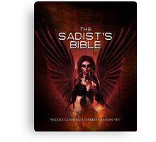 The Sadist's Bible Shirt Canvas Print