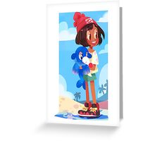 Popplio by the sea Greeting Card