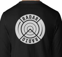 RADAR RADIO BACK PRINT / WHITE - GRIME Long Sleeve T-Shirt