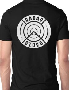 RADAR RADIO BACK PRINT / WHITE - GRIME Unisex T-Shirt