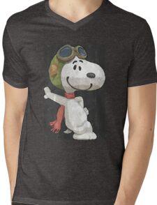 Snoopy aviador Mens V-Neck T-Shirt