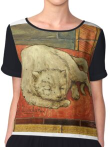 Queen Katharine & Henry VIII  - King of England Cat Chiffon Top
