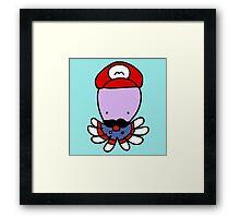Super Mario Octopus Framed Print