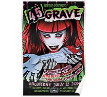 Poster for 45 Grave at Oakland Metro Operahouse Poster