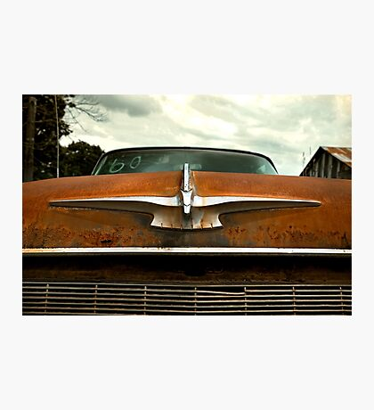 Abandoned 1960 Imperial Hood Ornament Photographic Print