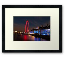 County Hall and The London Eye Framed Print