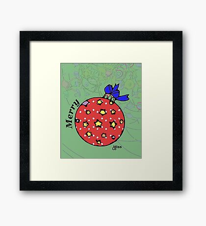 Holiday Ornament -112716 Framed Print