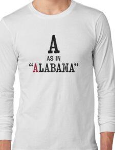 Alabama T-shirt - Alphabet Letter Long Sleeve T-Shirt