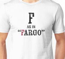 Fargo North Dakota T-shirt - Alphabet Letter Unisex T-Shirt