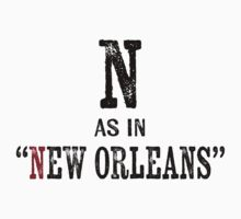 New Orleans Louisiana T-shirt - Alphabet Letter Baby Tee