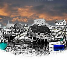Fishing Village by MichaelDTaylor