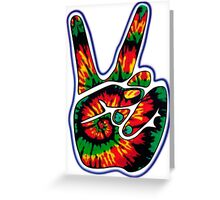 Tie-Dye Peace Sign Greeting Card