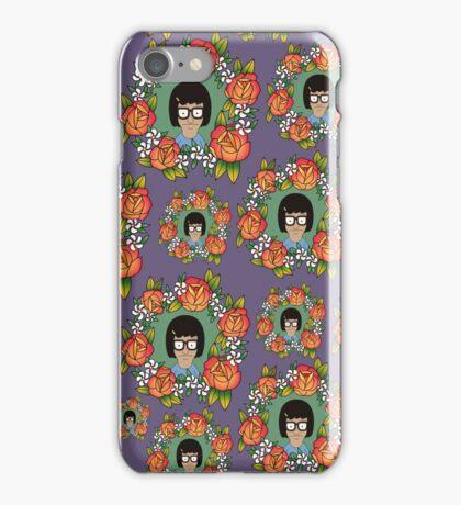 Tina Belcher Bobs Burgers Floral Pattern  iPhone Case/Skin