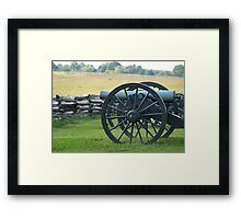 Union Cannons Framed Print