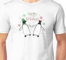 Penguins Putting on the Holiday Ritz Unisex T-Shirt