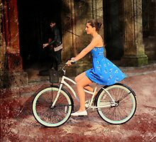 Bicycle Girl 1c by AndrewFare