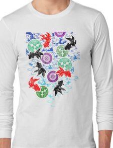 Kimono - Koi - White Long Sleeve T-Shirt