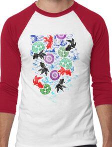 Kimono - Koi - White Men's Baseball ¾ T-Shirt