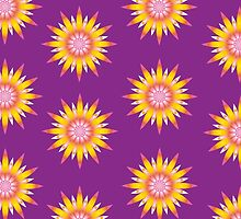 Indy flowers pattern by DjenDesign