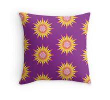 Indy flowers pattern Throw Pillow