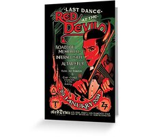 Poster for Last Dance at The Red Devil | Daniel Knop Greeting Card
