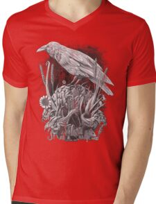 White Raven Mens V-Neck T-Shirt