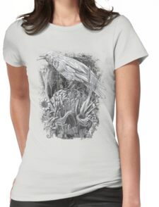 White Raven Womens Fitted T-Shirt