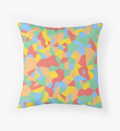 Summer Fractals Throw Pillow