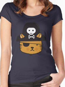 Pirate Cat - Jumpy Icon Series Women's Fitted Scoop T-Shirt