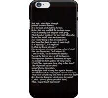 romeo monologue iPhone Case/Skin