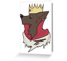 King Werewolf Greeting Card