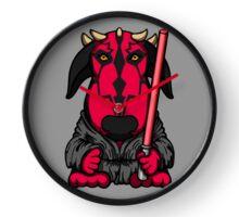 Dark Side Bull Terrier Clock