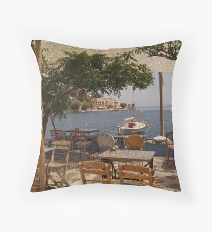 what a view - ocean serenity Throw Pillow