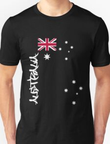Australia flag, Southern cross and text T-Shirt