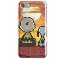 Snoppy atardecer iPhone Case/Skin