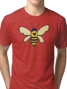 Bees and Flowers Tri-blend T-Shirt